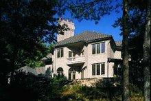 House Blueprint - European Exterior - Rear Elevation Plan #72-197