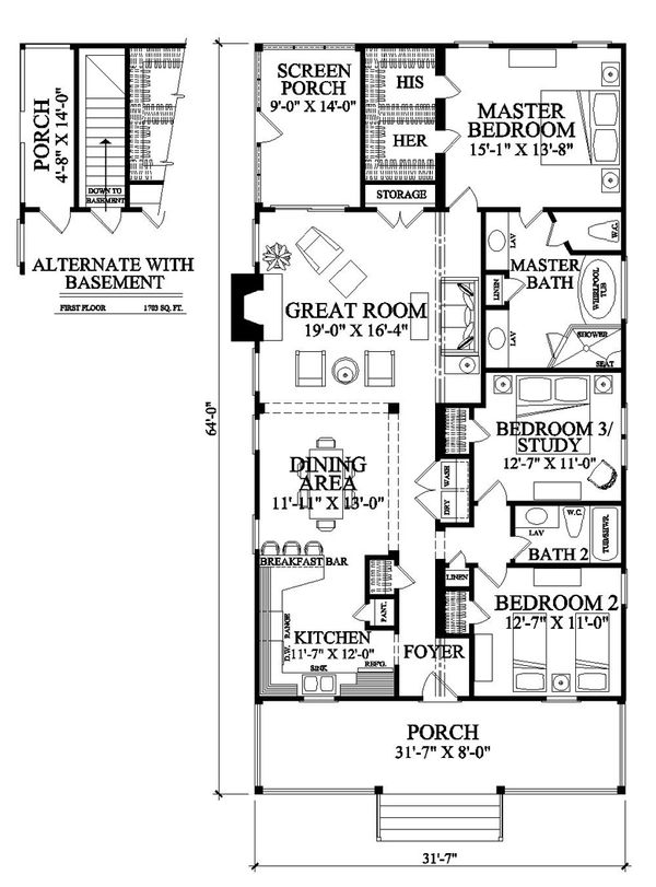 Southern Floor Plan - Other Floor Plan Plan #137-271