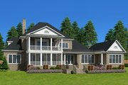 Traditional Style House Plan - 6 Beds 6.5 Baths 6303 Sq/Ft Plan #1054-22 Exterior - Rear Elevation