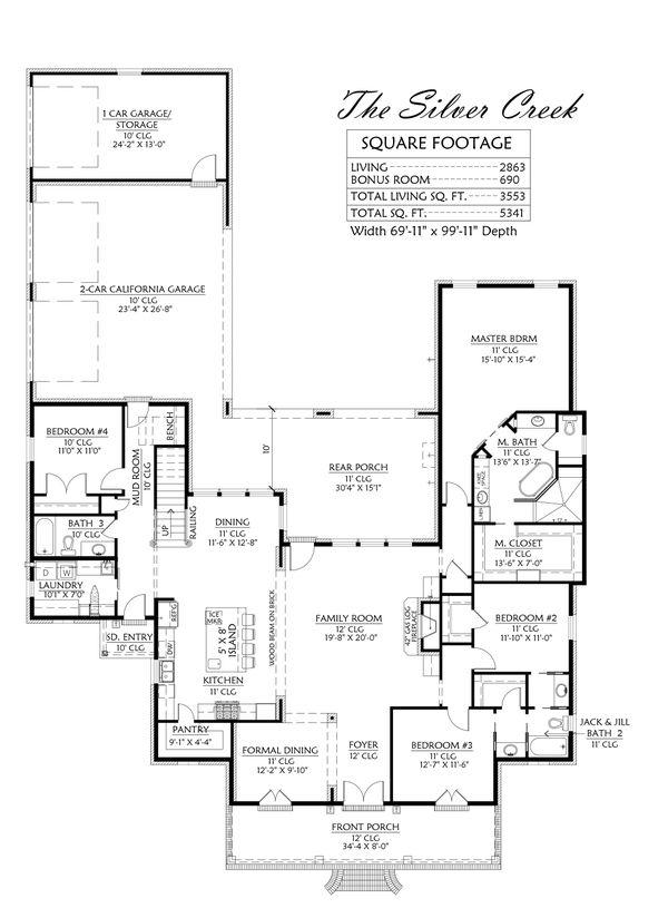 Home Plan - Southern Floor Plan - Main Floor Plan #1074-34