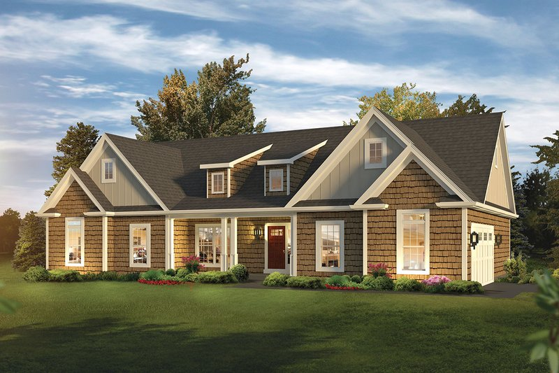 Home Plan - Ranch Exterior - Front Elevation Plan #57-661