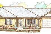 Colonial Style House Plan - 3 Beds 2.5 Baths 1375 Sq/Ft Plan #421-112 Exterior - Front Elevation