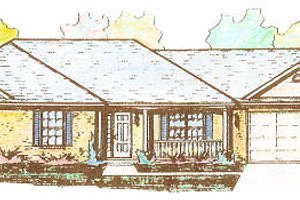 Colonial Exterior - Front Elevation Plan #421-112