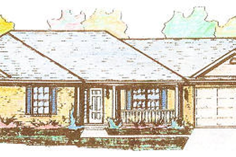 Colonial Style House Plan - 3 Beds 2.5 Baths 1375 Sq/Ft Plan #421-112