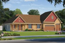 Dream House Plan - Traditional Exterior - Front Elevation Plan #20-2344