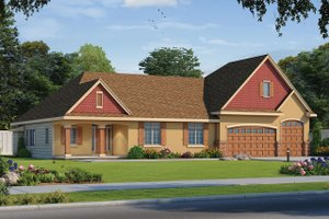 Traditional Exterior - Front Elevation Plan #20-2344