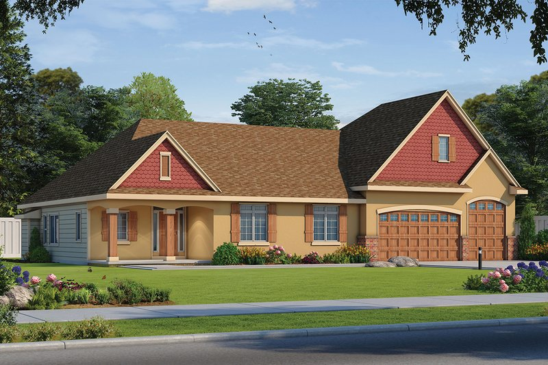 Architectural House Design - Traditional Exterior - Front Elevation Plan #20-2344