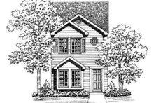 House Blueprint - Colonial Exterior - Rear Elevation Plan #72-475