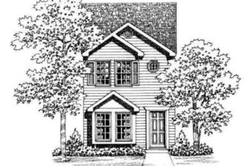 Colonial Exterior - Rear Elevation Plan #72-475 - Houseplans.com