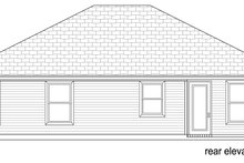 Home Plan - Traditional Exterior - Rear Elevation Plan #84-576