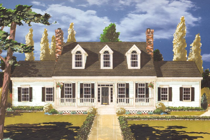 Country Exterior - Front Elevation Plan #3-308