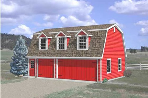 Farmhouse Exterior - Front Elevation Plan #116-134