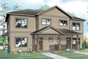 Country Exterior - Front Elevation Plan #124-1077