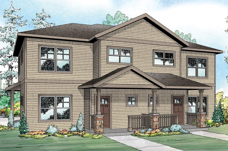 Home Plan - Country Exterior - Front Elevation Plan #124-1077