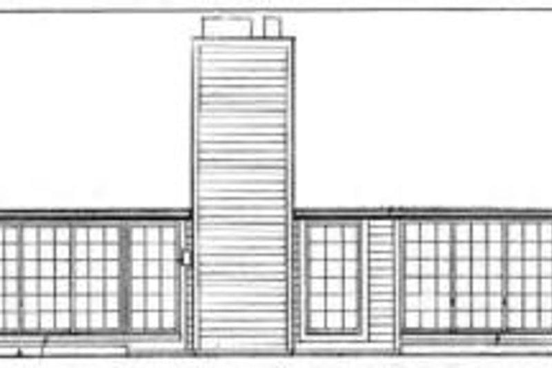 Traditional Exterior - Rear Elevation Plan #72-451 - Houseplans.com