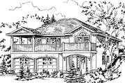 European Style House Plan - 3 Beds 2 Baths 1284 Sq/Ft Plan #18-1008 Exterior - Other Elevation