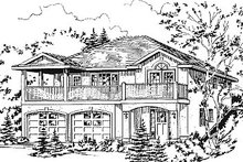 House Blueprint - European Exterior - Other Elevation Plan #18-1008