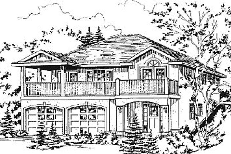 European Exterior - Other Elevation Plan #18-1008 - Houseplans.com