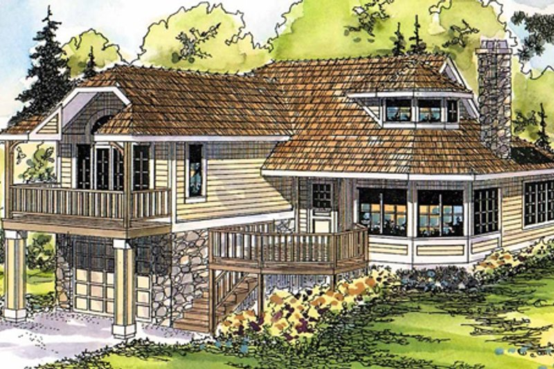 Country Exterior - Front Elevation Plan #124-438