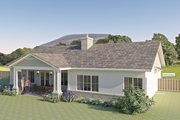 Ranch Style House Plan - 3 Beds 2 Baths 1544 Sq/Ft Plan #489-12 Exterior - Rear Elevation