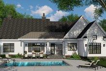 House Plan Design - Farmhouse Exterior - Rear Elevation Plan #51-1141