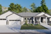 Ranch Style House Plan - 3 Beds 2.5 Baths 2734 Sq/Ft Plan #1060-99 Exterior - Front Elevation