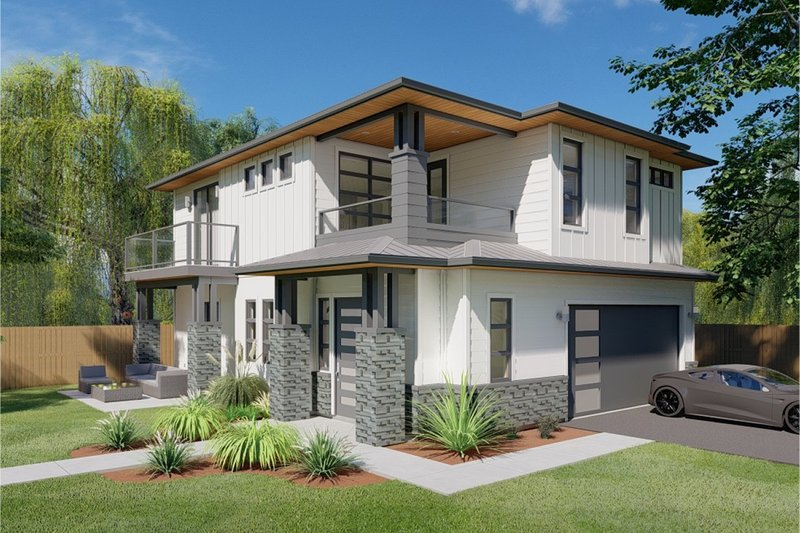 Home Plan - Prairie Exterior - Front Elevation Plan #126-225