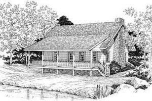 Country Exterior - Front Elevation Plan #72-104