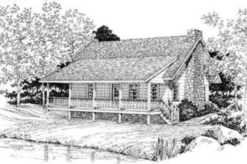 Country Exterior - Front Elevation Plan #72-104 - Houseplans.com