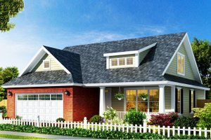 Country Exterior - Front Elevation Plan #513-2140