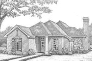 Traditional Style House Plan - 3 Beds 2 Baths 1733 Sq/Ft Plan #310-295 Exterior - Front Elevation