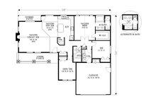 Craftsman Floor Plan - Main Floor Plan Plan #53-581