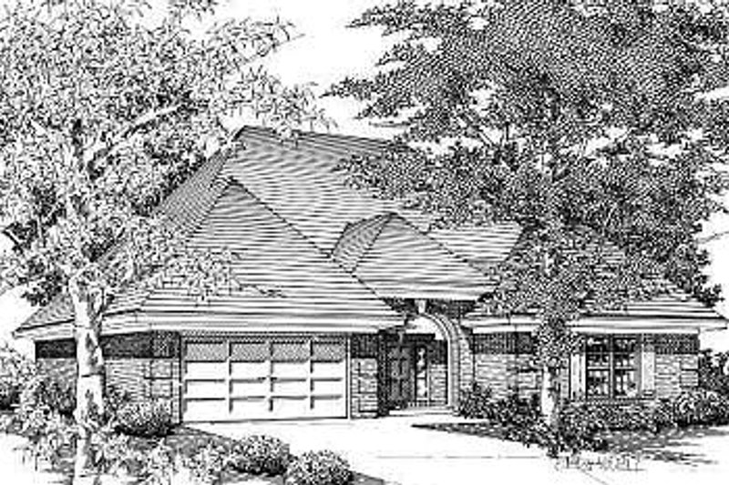 Traditional Style House Plan - 3 Beds 2 Baths 1906 Sq/Ft Plan #329-227 Exterior - Front Elevation