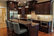 Ranch Style House Plan - 3 Beds 2.5 Baths 3588 Sq/Ft Plan #928-2 Interior - Kitchen