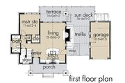 Contemporary Style House Plan - 2 Beds 2 Baths 985 Sq/Ft Plan #120-190 Floor Plan - Main Floor Plan