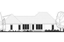 Dream House Plan - Modern Exterior - Rear Elevation Plan #430-184