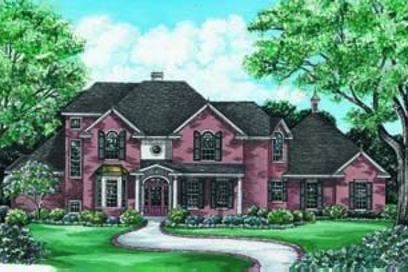 Dream House Plan - European Exterior - Front Elevation Plan #20-1059