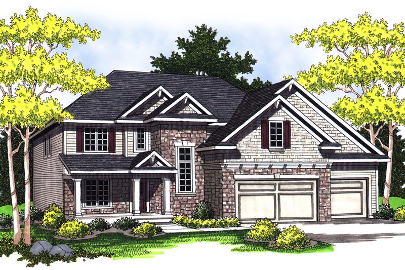 Traditional Exterior - Front Elevation Plan #70-843 - Houseplans.com