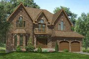 European Style House Plan - 4 Beds 2.5 Baths 3332 Sq/Ft Plan #138-122 Exterior - Front Elevation