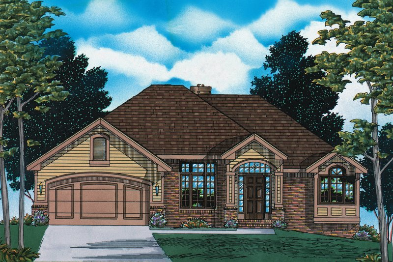 Home Plan - Traditional Exterior - Front Elevation Plan #20-155