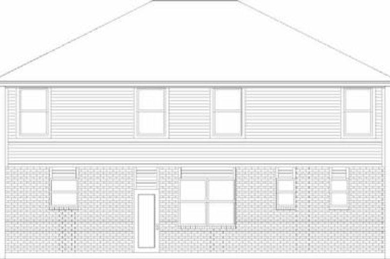 Traditional Exterior - Rear Elevation Plan #84-129 - Houseplans.com