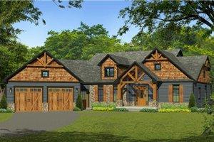 Craftsman Exterior - Front Elevation Plan #1010-230