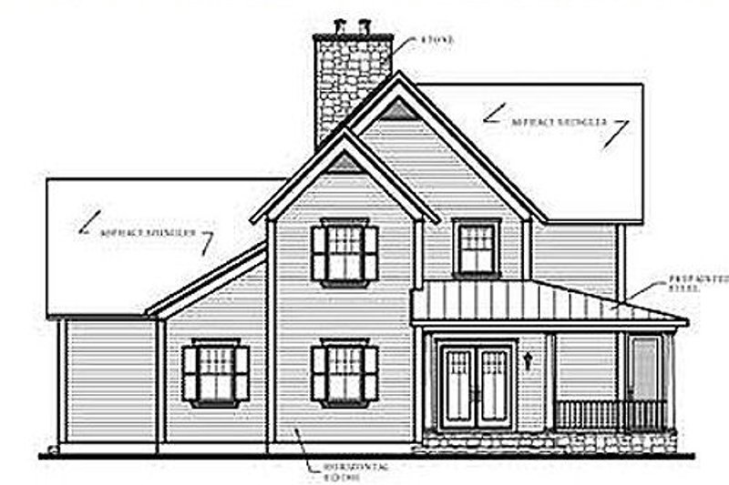 Country Exterior - Other Elevation Plan #23-420 - Houseplans.com