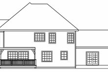 Architectural House Design - European Exterior - Rear Elevation Plan #124-542