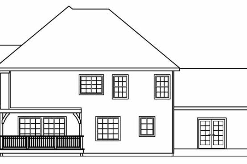 European Exterior - Rear Elevation Plan #124-542 - Houseplans.com