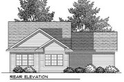 Ranch Style House Plan - 2 Beds 2 Baths 1649 Sq/Ft Plan #70-906 Exterior - Rear Elevation