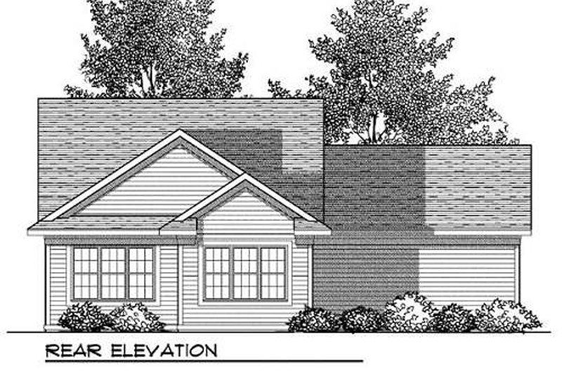 Ranch Exterior - Rear Elevation Plan #70-906 - Houseplans.com