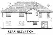 European Style House Plan - 4 Beds 2.5 Baths 1812 Sq/Ft Plan #18-265 Exterior - Rear Elevation