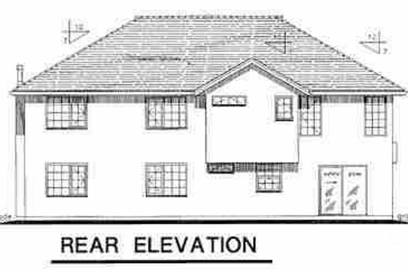 European Exterior - Rear Elevation Plan #18-265 - Houseplans.com