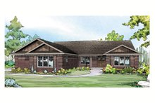 Ranch Exterior - Front Elevation Plan #124-900